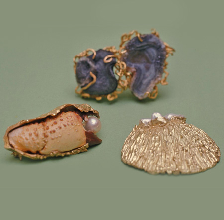 Shells & Stone Brooches